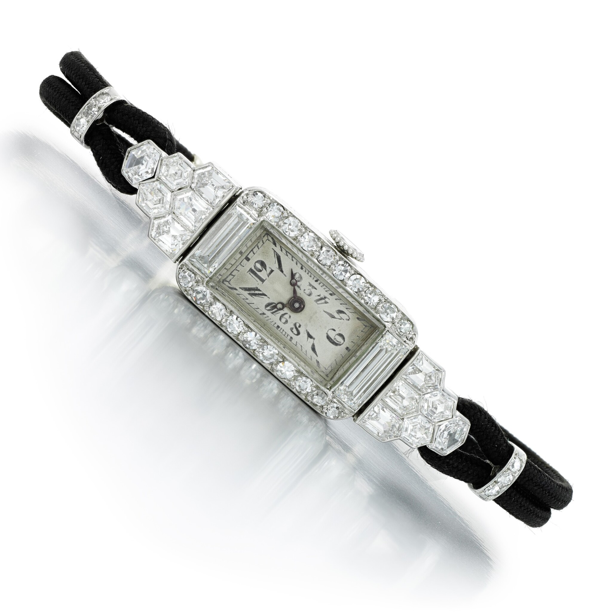 View full screen - View 1 of Lot 147. Lady's diamond cocktail watch, circa 1930.