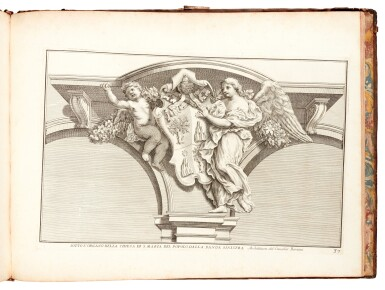View 2. Thumbnail of Lot 48. Aquila, Raccolta di vasi diversi, Rome, 1713, contemporary mottled calf.