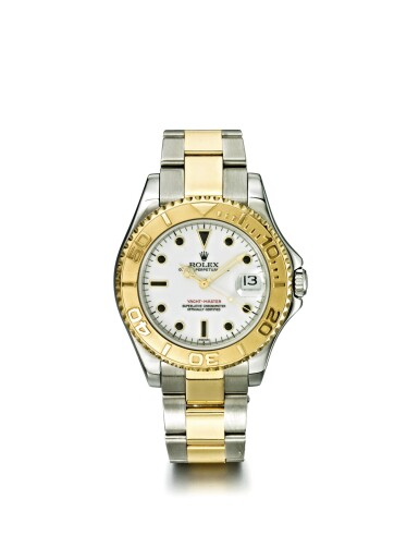 ROLEX | YACHT-MASTER MIDSIZE REF 68623, A STAINLESS STEEL AND YELLOW GOLD AUTOMATIC CENTER SECONDS WRISTWATCH WITH DATE AND BRACELET CIRCA 1998