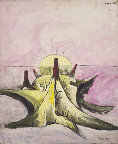 GRAHAM SUTHERLAND | HORNED FORM PINK SKY