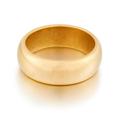 View 2. Thumbnail of Lot 2. Sylvia Plath and Ted Hughes | Pair of gold wedding rings.