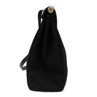 View 5. Thumbnail of Lot 113. HERMÈS | BLACK HERBAG MM 2-IN-1 IN HUNTER COWHIDE WITH PALLADIUM HARDWARE, 1999.