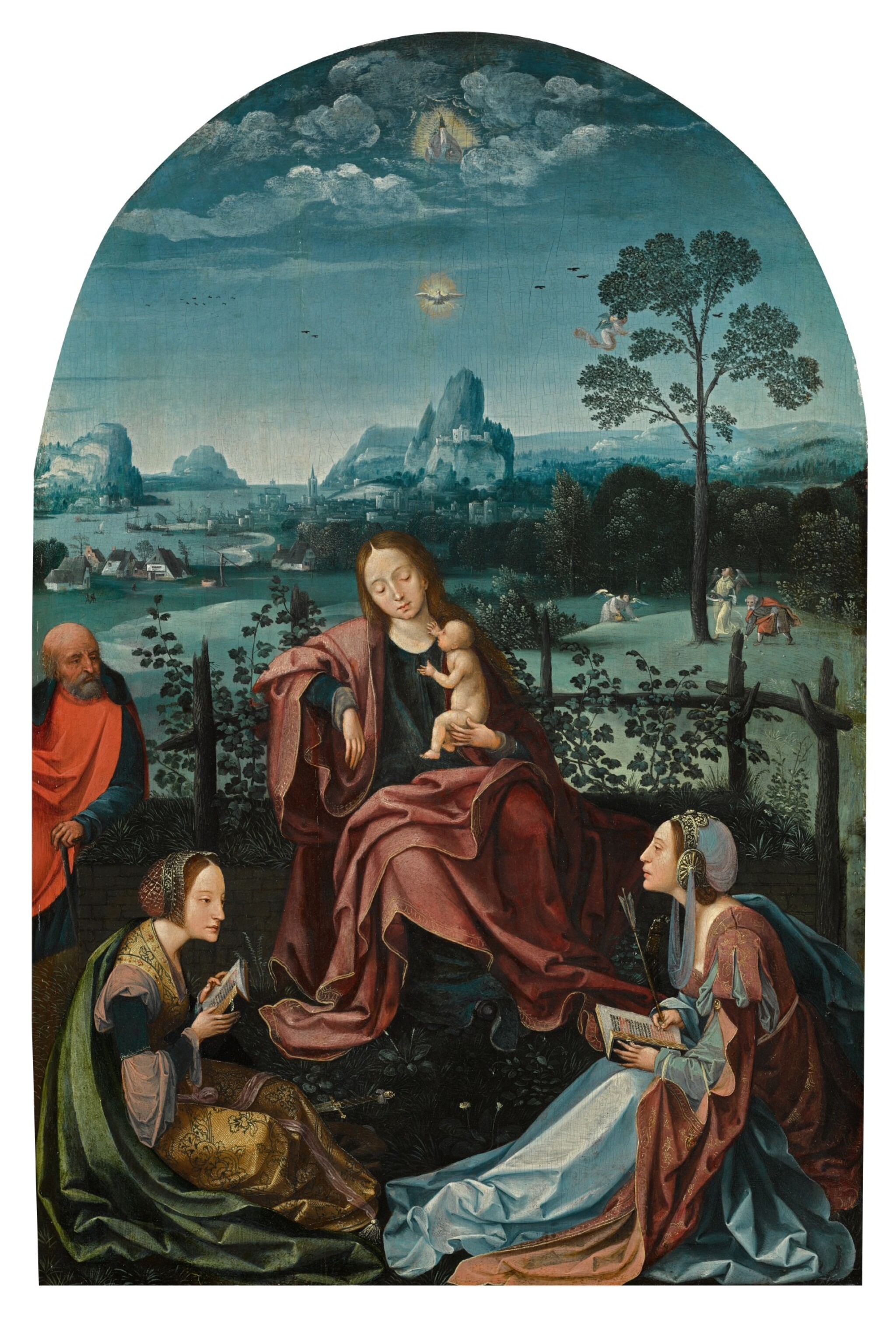 View full screen - View 1 of Lot 7. The Holy Family with Saints Catherine and Ursula | 《聖家與聖凱薩琳及烏蘇拉》.