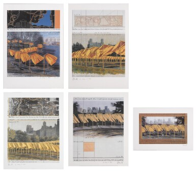 View 1. Thumbnail of Lot 34. The Gates, Project for Central Park, New York City: 5 Prints.