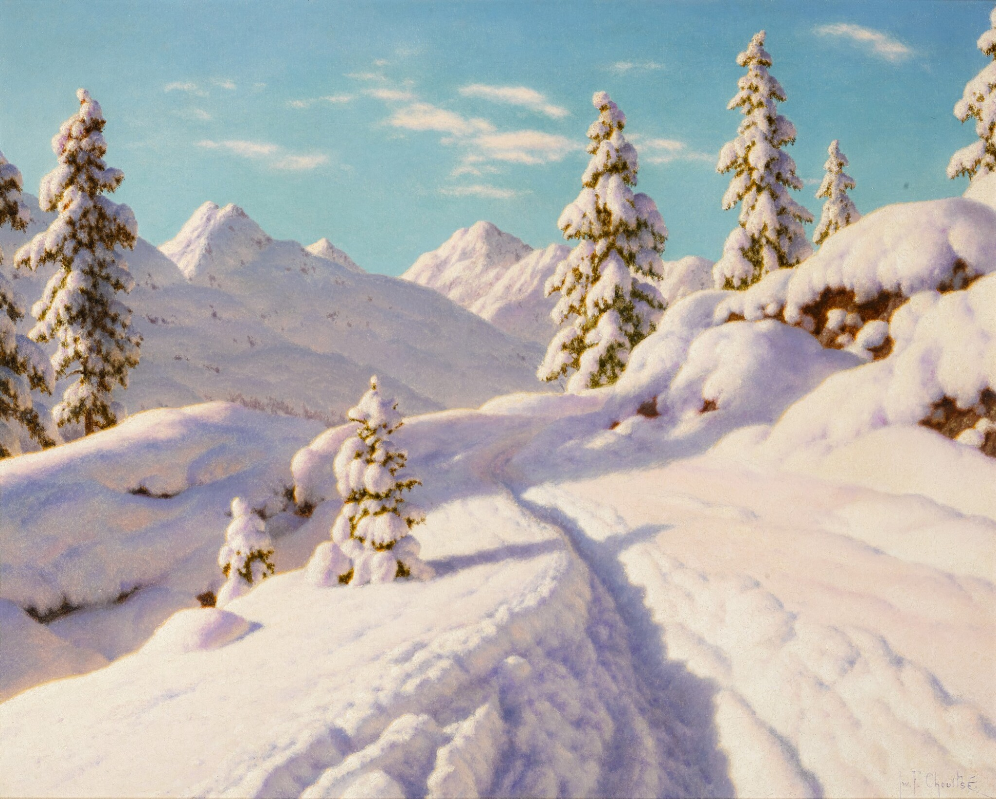View full screen - View 1 of Lot 4. IVAN FEDOROVICH CHOULTSÉ | JANVIER (ENGADINE).