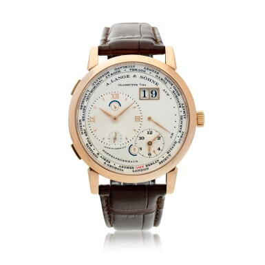 View 1. Thumbnail of Lot 17. Reference 116.032 Lange 1 Time Zone  A pink gold world time wristwatch with date and power reserve, Circa 2010.