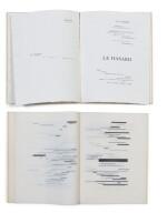 """2 versions du """"Coup de dés"""": édition de la NRF (1914) et édition sur calque (1969)"""