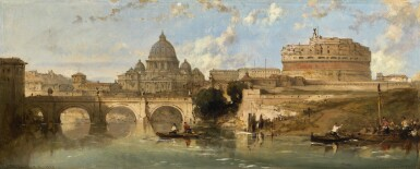 DAVID ROBERTS, R.A. | CASTLE AND BRIDGE OF ST. ANGELO, ROME