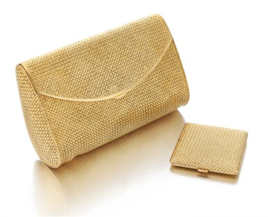 View 1. Thumbnail of Lot 62. Evening bag and compact (Borsetta e portacipria ).