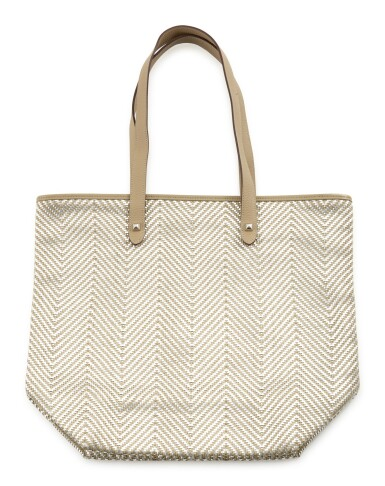 Leather and polyester with palladium hardware shoulder bag, Chennai tote bag , Hermès, 2009