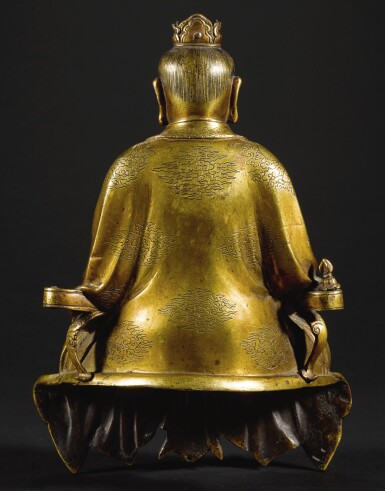 View 2. Thumbnail of Lot 187. A RARE GILT-BRONZE SEATED FIGURE OF A DAOIST DEITY QING DYNASTY, 18TH CENTURY | 清十八世紀 鎏金銅道教神仙坐像.