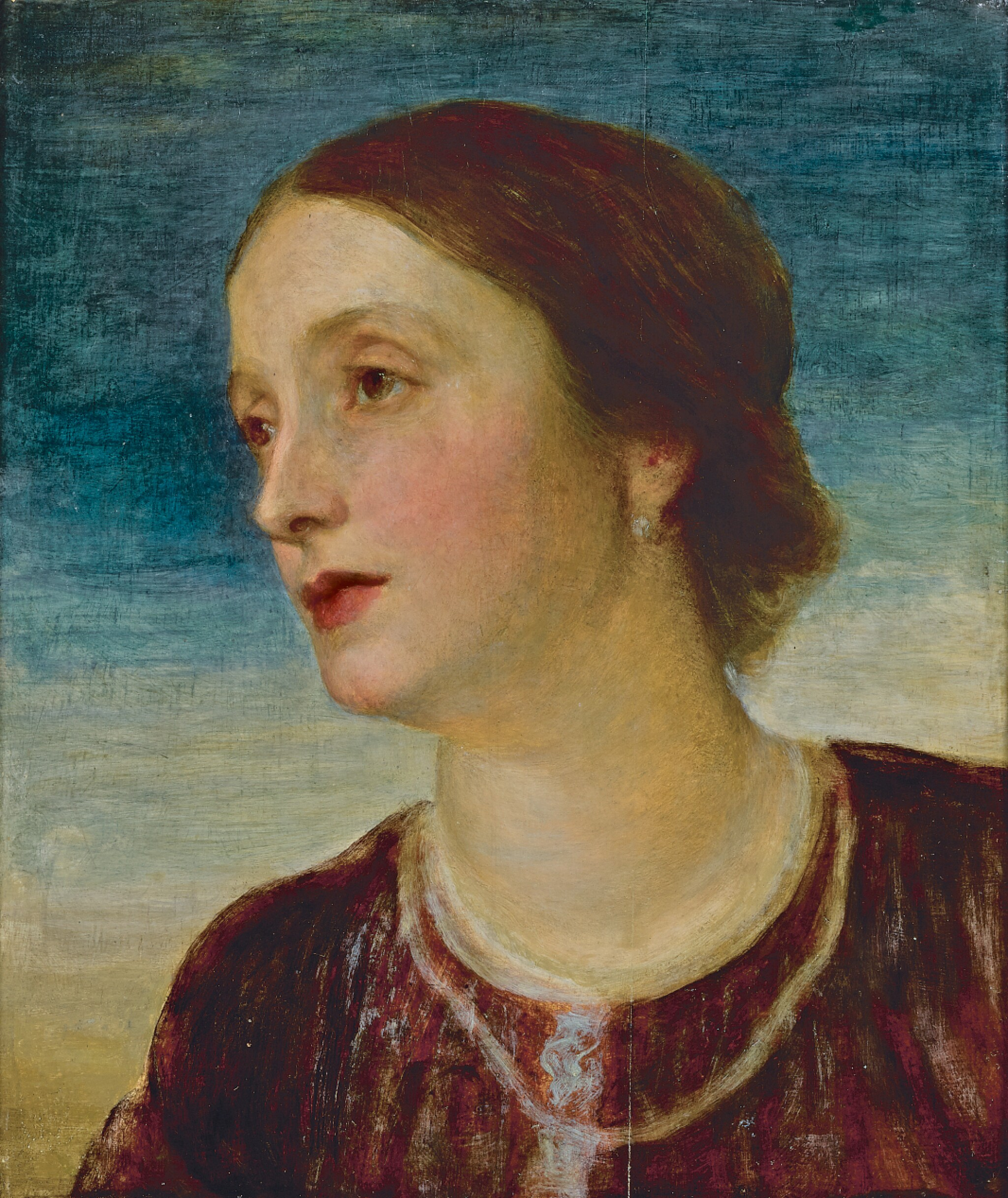 GEORGE FREDERIC WATTS, O.M., R.A.   Portrait of The Countess Somers