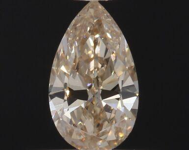 A 0.31 Carat Fancy Light Brown-Yellow Pear-Shaped Diamond, Internally Flawless