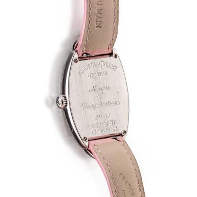 View 3. Thumbnail of Lot 8057. Franck Muller   Curvex, Reference 7502 QZ HJ, A white gold and diamond-set wristwatch, Circa 2000   Curvex 型號7502 QZ HJ  白金鑲鑽石腕錶,約2000年製.