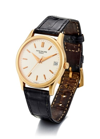 View 2. Thumbnail of Lot 8061. PATEK PHILIPPE | CALATRAVA, REFERENCE 3998, A YELLOW GOLD WRISTWATCH WITH DATE, MADE IN 1996.