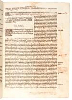 Suetonius, Vita XII Caesarum, Milan, 1494, modern stamped calf