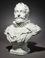 A RARE MEISSEN BUST OF THE HOLY ROMAN EMPEROR MATHIAS CIRCA 1745-46