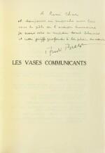 """Les Vases communicants. 1932. Envoi de Breton à Char. """"Tirage à part pour les amis"""" sur papier jaune"""