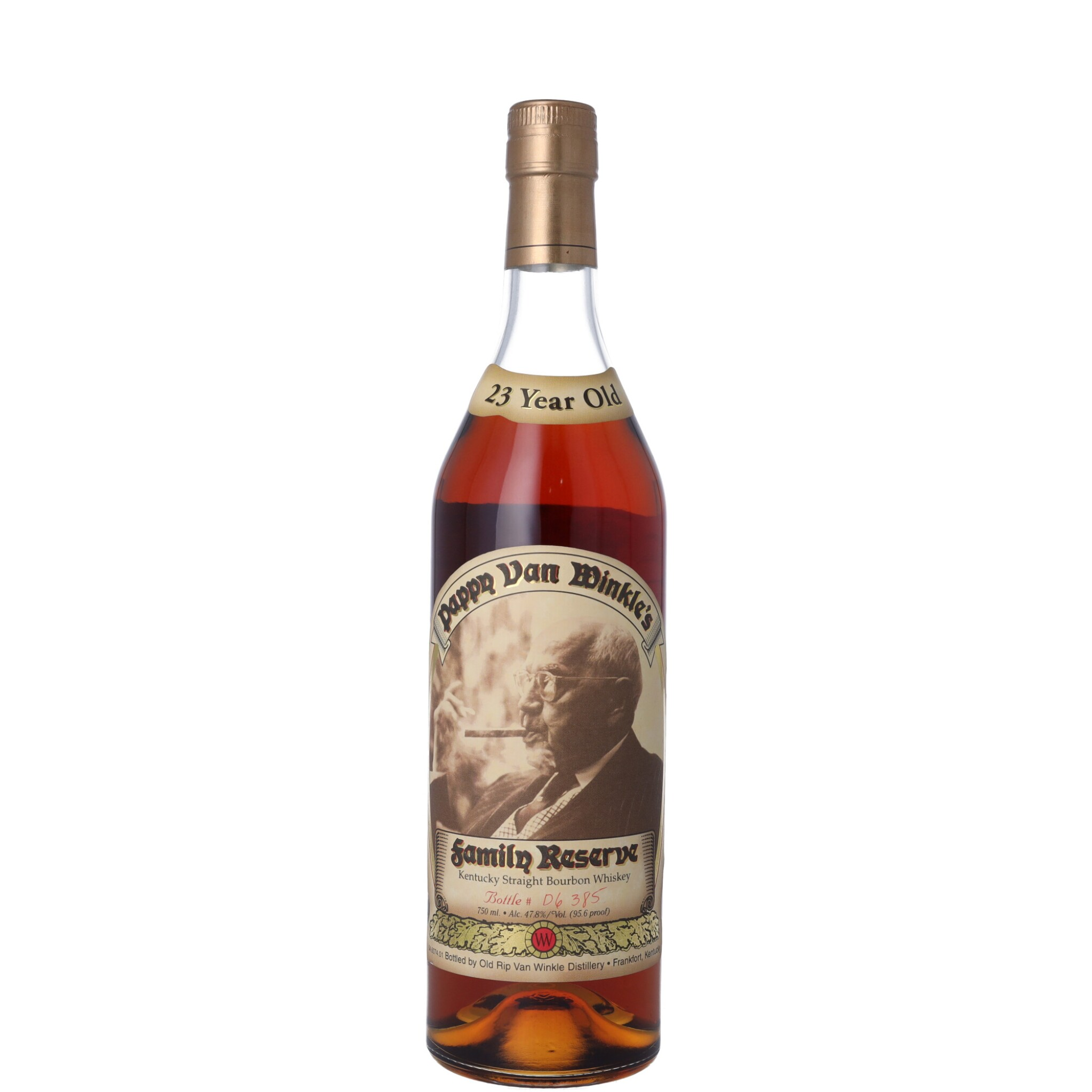 View full screen - View 1 of Lot 174. Pappy Van Winkle's 23 Year Old Family Reserve 95.6 proof NV (1 BT75).