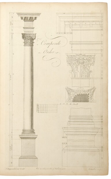 View 3. Thumbnail of Lot 33. Thomas Chippendale. The Gentleman and Cabinet-Maker's Director: London: 1762.