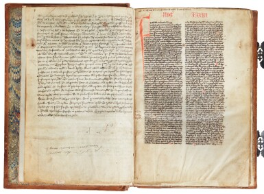 View 6. Thumbnail of Lot 6. The Bible of William Ketyll, with prologues, in Latin [England, 13th century (second quarter or middle)].