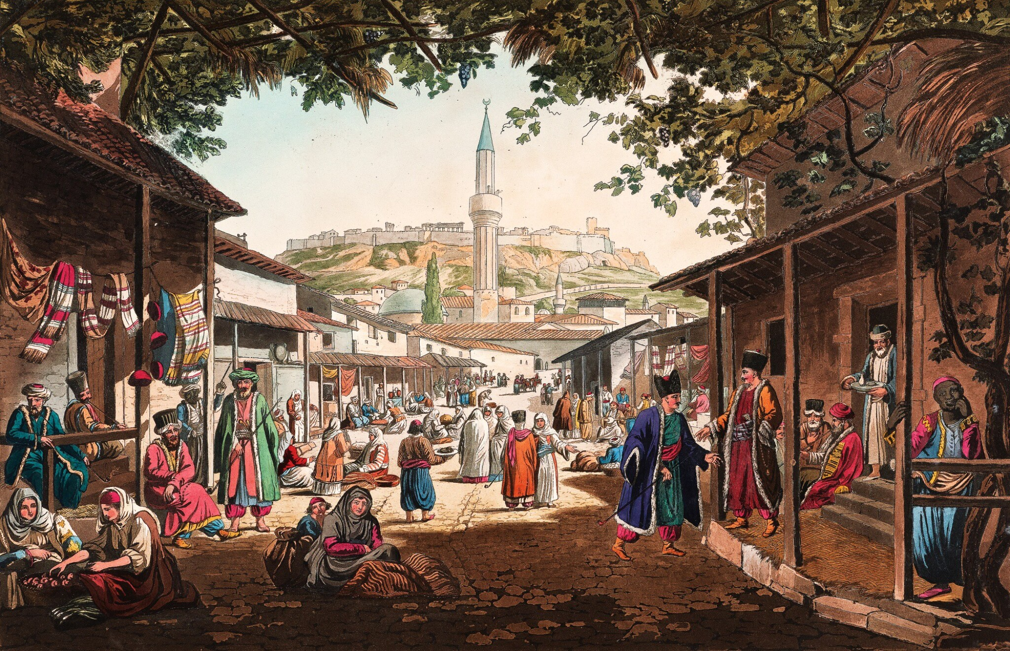 View full screen - View 1 of Lot 44. Dodwell. Views in Greece. 1821. folio. coloured plates. contemporary morocco.