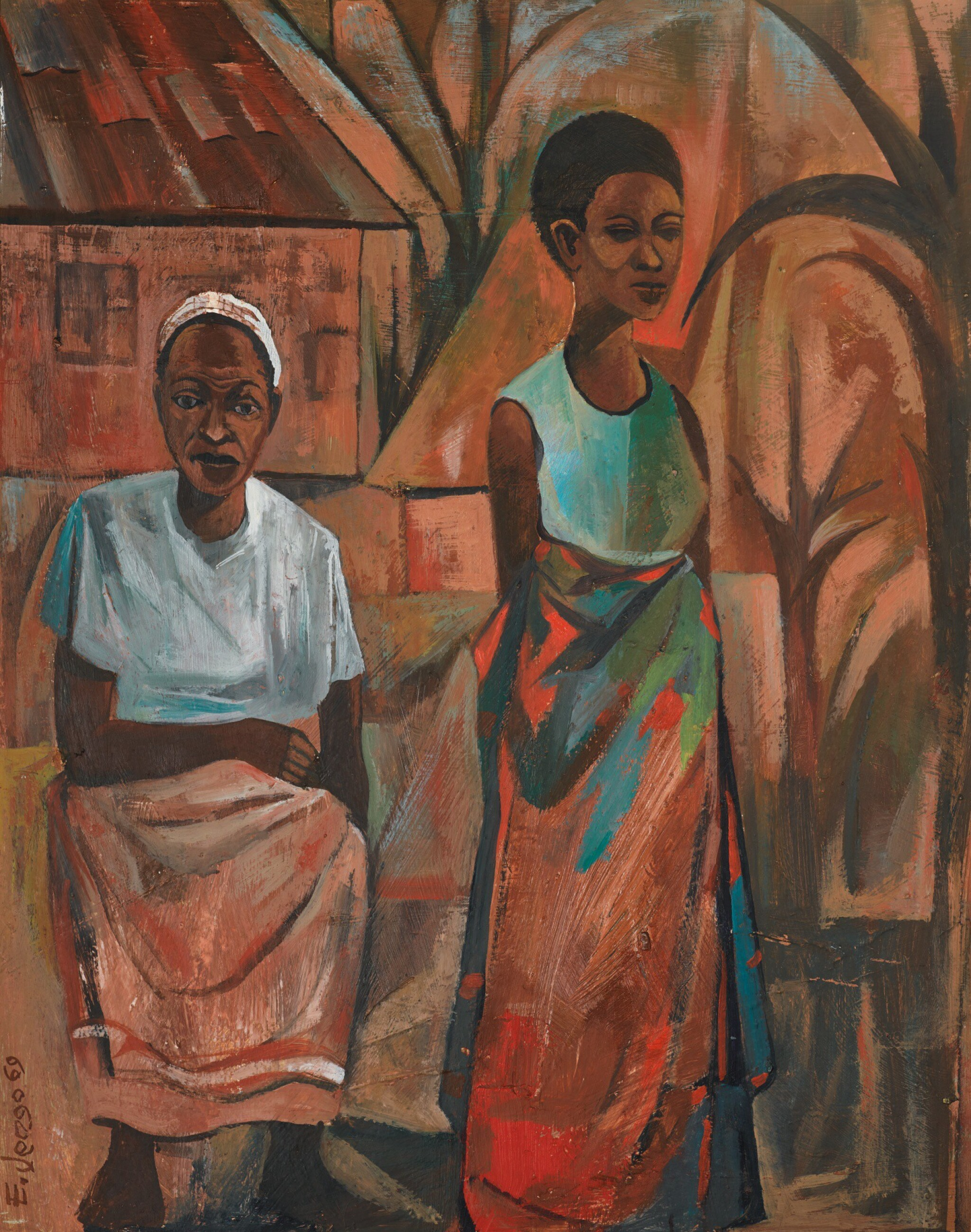 View full screen - View 1 of Lot 69. ELIAS JENGO   WAKULIMA (THE FARMERS).