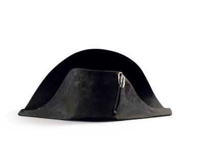 """View 2. Thumbnail of Lot 33. The legendary """"à la française"""" hat of Emperor Napoleon I, worn during his campaign in Pologne (1807)   Légendaire chapeau de l'empereur Napoléon Ier, de forme traditionnelle dite à la française, porté durant la campagne de Pologne (1807).."""