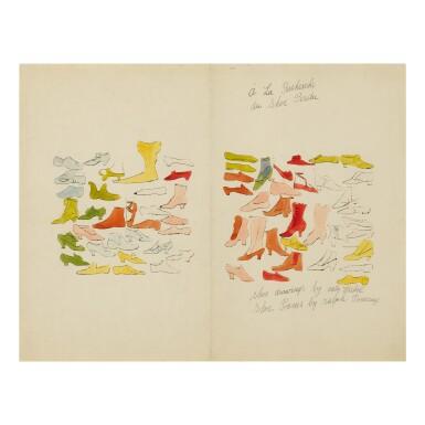 View 19. Thumbnail of Lot 62. ANDY WARHOL | À LA RECHERCHE DU SHOE PERDU; AND SHOE AND LEG (SEE F. & S. IV.69A-85).