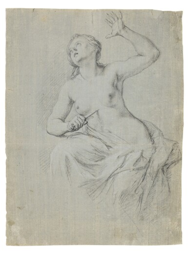 View 1. Thumbnail of Lot 71. Recto: The Death of Lucretia Verso: A compositional study with two figures.