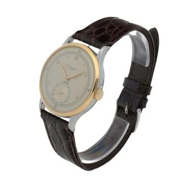 View 2. Thumbnail of Lot 52. Retailed by Hausmann: Ref. 530 Stainless steel and yellow gold wristwatch Circa 1942 | 百達翡麗|零售商為Hausmann:530型號精鋼及黃金腕錶,年份約1942.