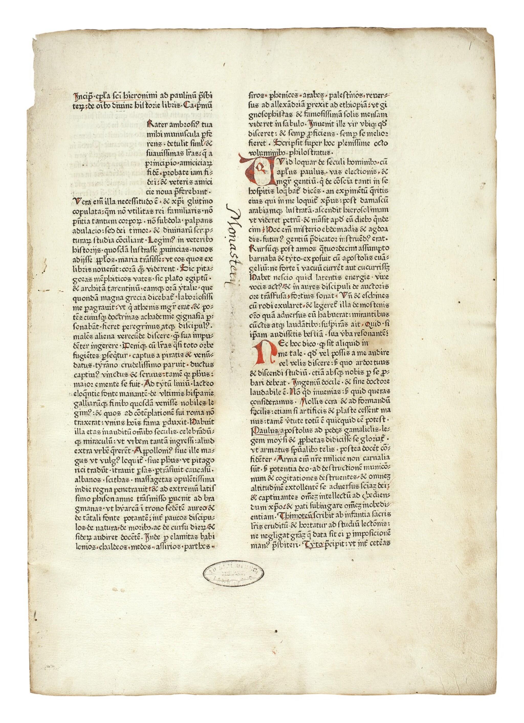View full screen - View 1 of Lot 118. BIBLE IN LATIN | Bible, Latin. Nuremberg: Anton Koberger, 16 November 1475.