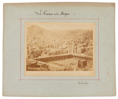 View 5. Thumbnail of Lot 103. Mecca-after Muhammad Sadiq Bey | A collection of seven photographs of Mecca, circa 1880s.