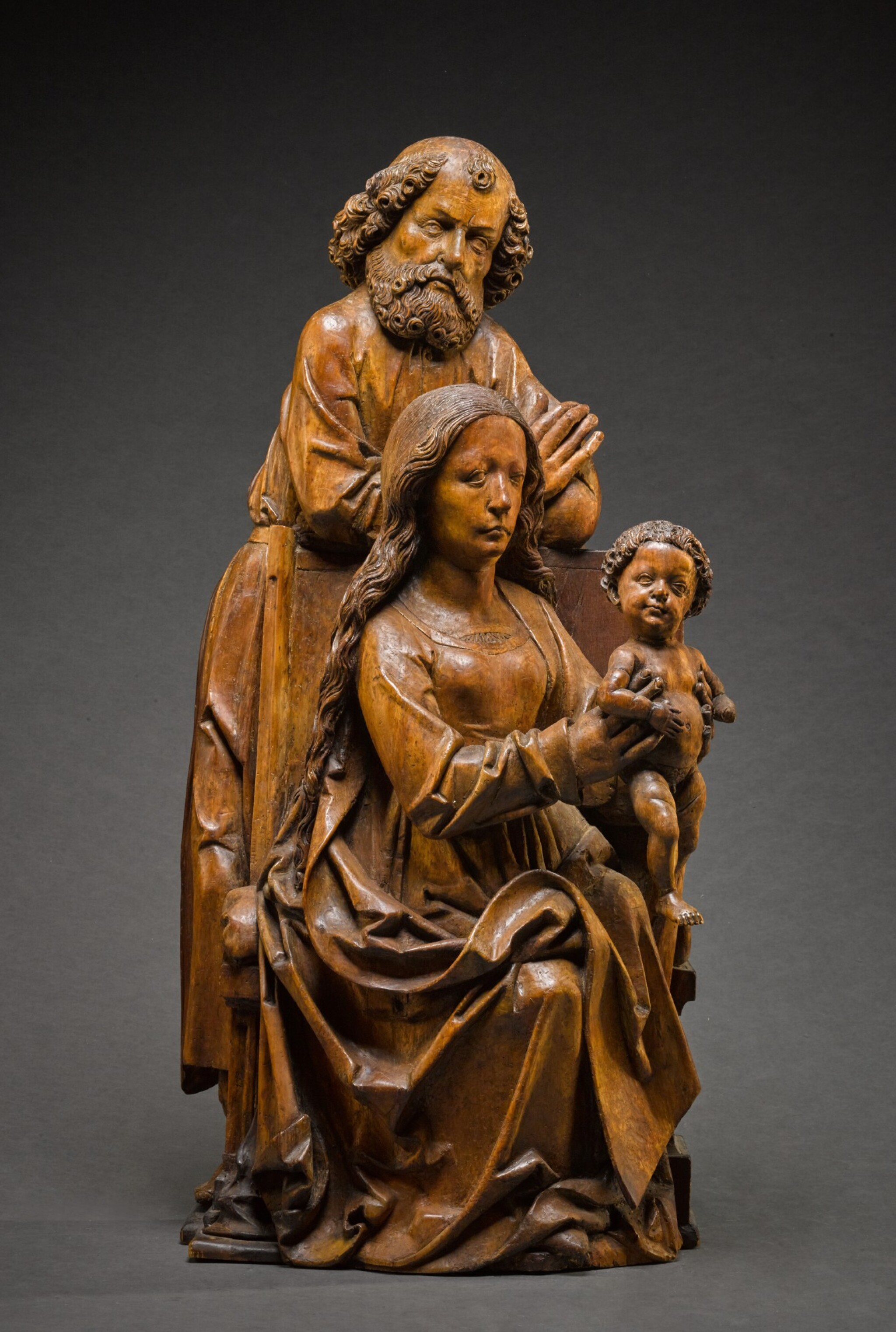 View full screen - View 1 of Lot 9. WORKSHOP OF TILMAN RIEMENSCHNEIDER  | THE HOLY FAMILY.