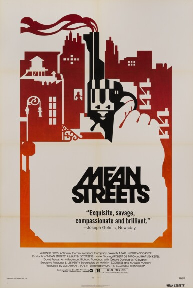 MEAN STREETS (1973) POSTER, US