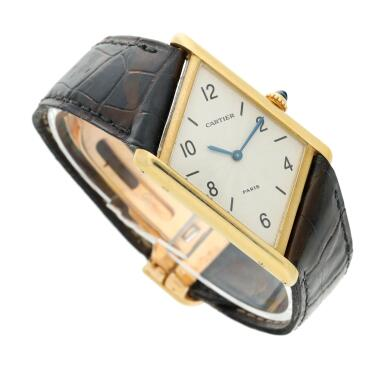 View 3. Thumbnail of Lot 221. Reference 2488 Tank Asymétrique  A limited edition yellow gold asymmetric wristwatch, Made in 1996 .