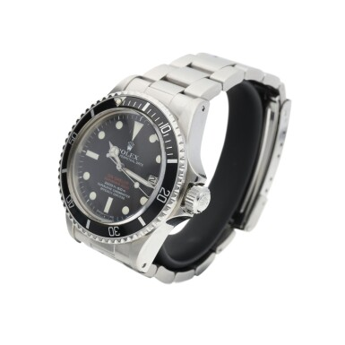 View 3. Thumbnail of Lot 87. ROLEX | REFERENCE 1665 DOUBLE RED SEA DWELLER   A STAINLESS STEEL AUTOMATIC WRISTWATCH WITH DATE AND BRACELET, CIRCA 1972.