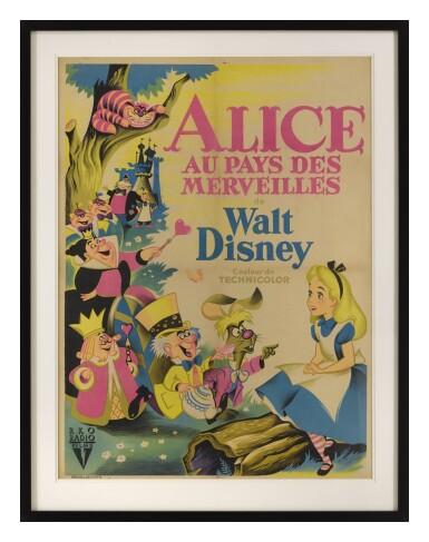 ALICE IN WONDERLAND/ALICE AU PAYS DES MERVEILLES (1951) POSTER, FRENCH