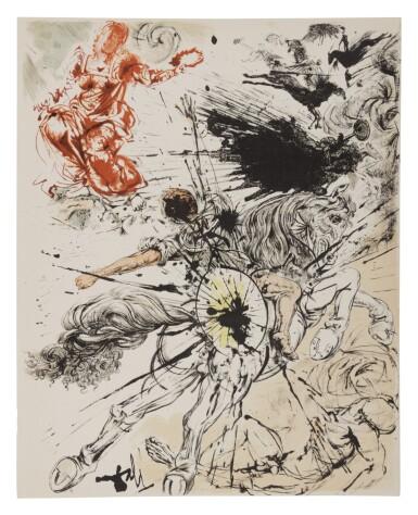View 5. Thumbnail of Lot 79. Pages choisies de Don Quichotte de la Manche (Michler/Löpsinger 1001-1012; Field 57-1).