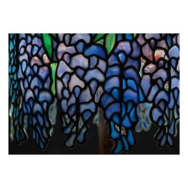 """View 2. Thumbnail of Lot 12. """"Pony Wisteria"""" Table Lamp."""