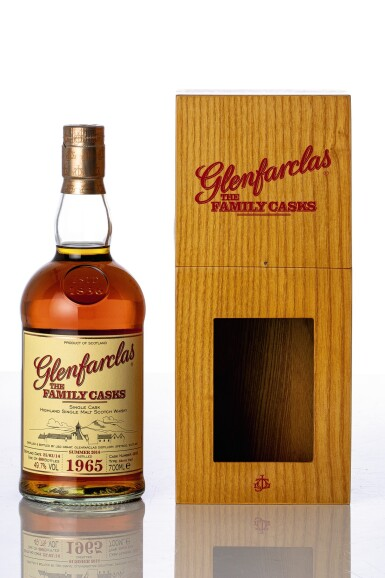 View full screen - View 1 of Lot 5530. Glenfarclas Family Cask #4505 49.7 abv 1965 (1 BT70).