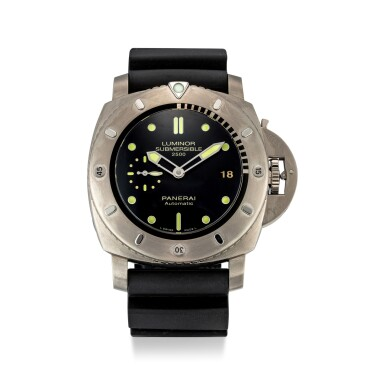 View 1. Thumbnail of Lot 356. PANERAI   LUMINOR SUBMERSIBLE, REFERENCE PAM 364 A TITANIUM WRISTWATCH WITH DATE, CIRCA 2013.