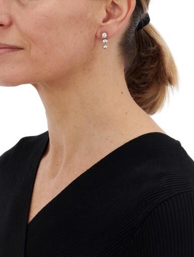 View 4. Thumbnail of Lot 200.  CARTIER | DIAMOND EARRINGS   (PAIO DI ORECCHINI IN DIAMANTI) .