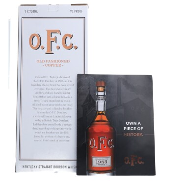 View 5. Thumbnail of Lot 160. Buffalo Trace OFC 45.0 abv 1983 (1 BT75).