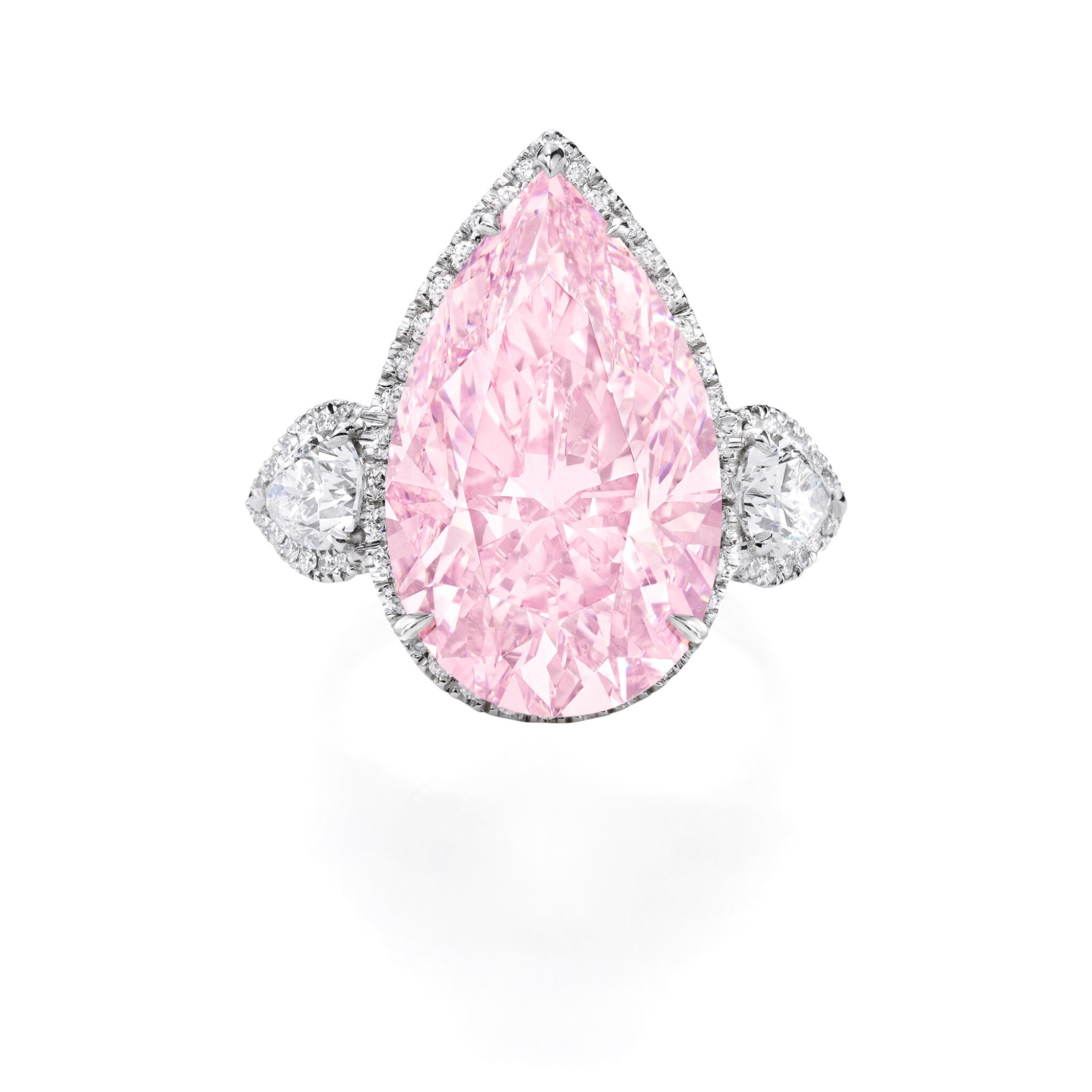 View full screen - View 1 of Lot 134. An Exquisite Fancy Pink Diamond and Diamond Ring.