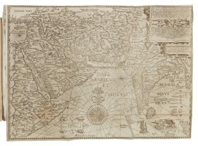 View 1. Thumbnail of Lot 12. Linschoten, Jan Huygen van   An English Linschoten in contemporary vellum.