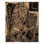 PABLO PICASSO | PORTRAIT DE JACQUELINE AU FAUTEUIL (BA. 1054)