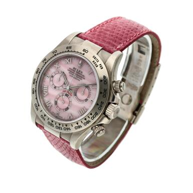 View 2. Thumbnail of Lot 210. Reference 116519 'Daytona Beach'  A white gold automatic chronograph wristwatch, Circa 2000.