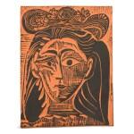 PABLO PICASSO  |  FEMME AU CHAPEAU FLEURI (A. R. 521)