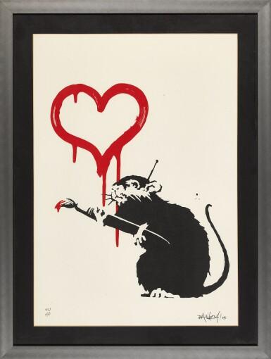 View 2. Thumbnail of Lot 15. BANKSY | LOVE RAT.